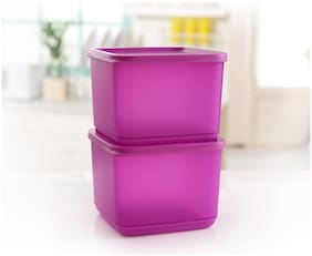 Tupperware Square Fruits Vegetables Storer Refrigerator Container Cubix 1l 2pc