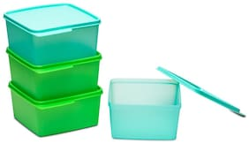 Tupperware Square Refrigerator Container Keep Tab 1.2l 4pcs