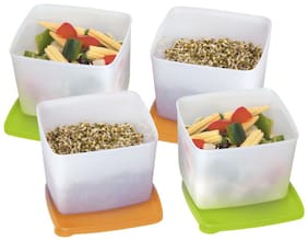 Tupperware Square Container Cool N Fresh 800ml 4pc
