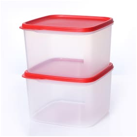 Tupperware Smart Storer Square Container Set (Set Of 2) (2.5 Ltr)