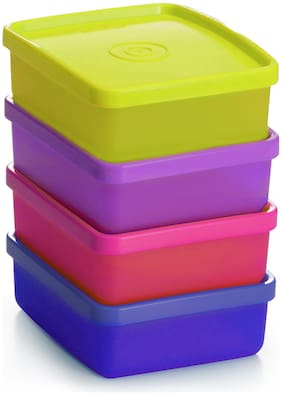 Tupperware Snacks Dry Fruits Container Mini Square Away 180ml 4pc