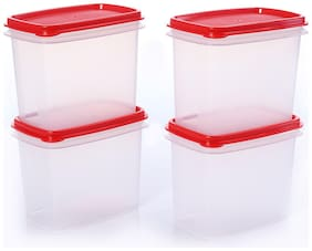 Tupperware Tea;Coffee;Sugar Container Within Reach Canister 840ml 4pc