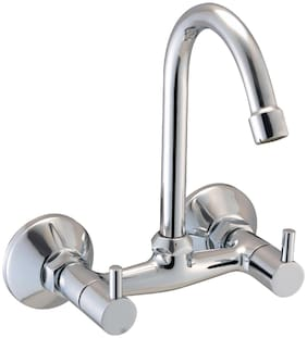 Smile MAX_2ND_P48 Wall Mount Stainless steel Basin and Sink Taps & Basin and Sink Mixers ( Handle Controlled )