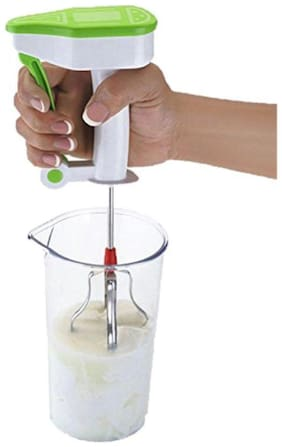 Turbo Stainless Steel Power Free Hand Blender for Egg & Cream Beater, Milkshake, Lassi, Butter Milk Mixer Maker (Color may vary)