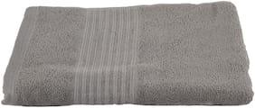 Turkish Bath 380 GSM Cotton Beach Towel ( 1 Piece , Grey )