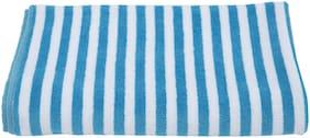 Turkish Bath 400 GSM Cotton Beach towel ( 1 piece , Blue )