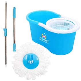Tvr Mart Spin Mop With 2 Mop Heads