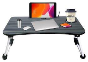 U S TEX Wood Portable Laptop Table  (Black)