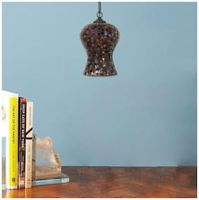Ujjala Multi Color Glass Pendant Hanging Lamp