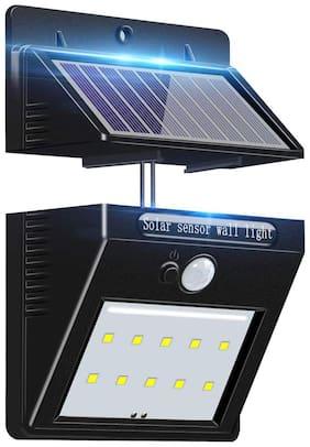 Ulfat LED Solar Power Motion Sensor Wall Light Outdoor Waterproof Garden Lamp