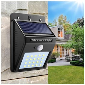 Ulfat Solar Wireless Security Motion Sensor Night Light - 20 LEDs Bright and Waterproof for Outdoor/Garden wall easy mount Two lightning modes Porch Patio Yard Deck Stairway Driveway