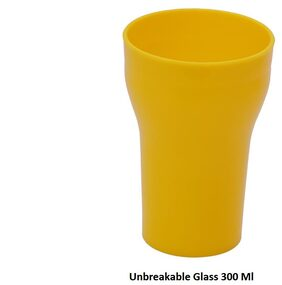 Unbreakable Multipurpose Glass yellow 300 Ml each