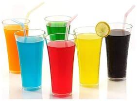 Unbreakable Stylish Glass Set of 6 Pcs Polycarbonate Soft Drink / Juice Glasses - Transparent (250 ML) Glass Set  (Plastic, 250, White, Pack of 6)