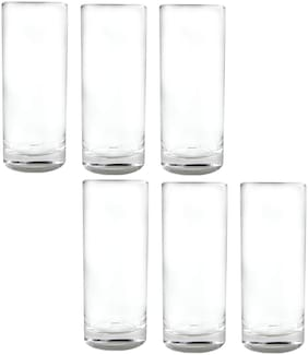 Dollar store 6 THAILAND CLEAR DRINKING GLASSES