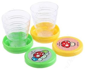 Unique design Mug Glass for Travel;Outdoors;Hiking;Set of 2 Folding Collapsible Magic Cup.