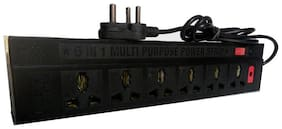 Unique Three Pin Black Extension Board ( 1.5 m , 6 Socket , 1 Switches)