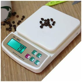 UniqueCartz LCD Screen Digital Kitchen Weighing Scale Machine with LCD Backlit For Measuring Food Vegetable Spices (10 Kg)