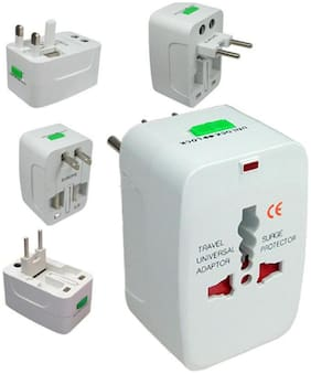 Universal International World Wide Travel Power Plug, European Adapter, Worldwide AC Outlet Plugs Adapters for Europe, UK, US, AU, Asia