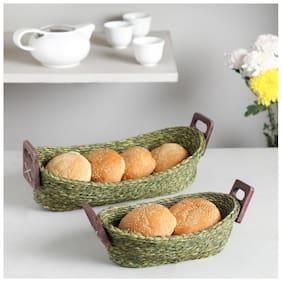 Unravel India Sabai bread basket(Set of 2)