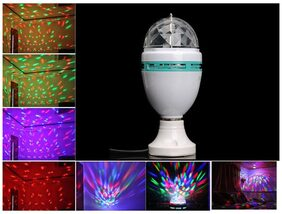 UPK 1 Watt LED RGB Colorful Rotating Lamp