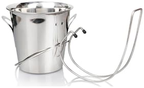 Urban Snacker Stainless Steel Table-Mountable Wine Bucket Holder With Tulip Bucket (1160 Gms)
