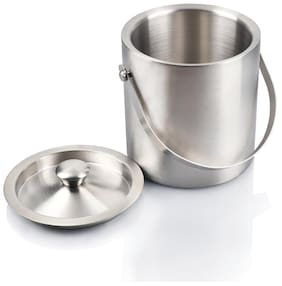 Urban Snacker Ice Bucket Double Wall With Cover ( Stainless Steel )
