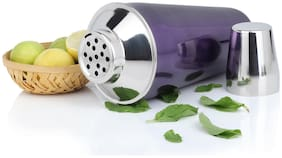 Urban Snackers Cocktail Mocktail Shaker;28 Oz 829 ml;Stainless Steel;Purple Silver;Use for Drink Mixer;at Home;Hotel;Restaurant;Pack of 1