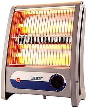 USHA 3002-QH Halogen Room Heater (Light Grey)