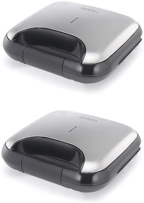 Usha 3772 2 Slices Sandwich Maker - Black , Pack of 2