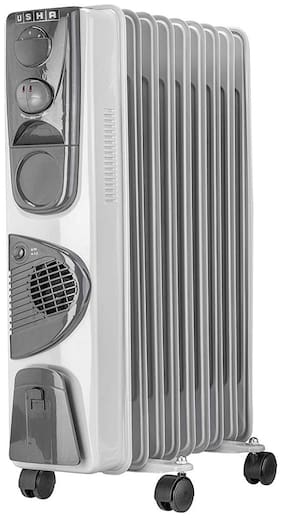 Usha 3809 F 2000-W Oil Filled Radiator (White)