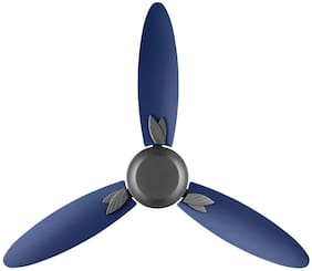 Usha Bloom Magnolia 1250mm 85-Watt Goodbye Dust Ceiling Fan with Anti Dust Feature(Sparkle Grey and Blue) pack of 1