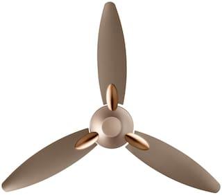 Usha Bloom Primrose 1250 mm 3 Blade Ceiling Fan  (Sparkle Golden And Brown, Pack Of 1)