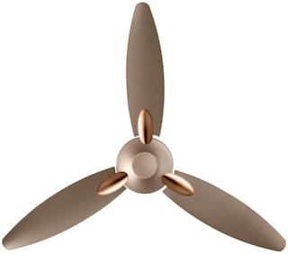 Usha Bloom Primrose 1250 mm 3 Blade Ceiling Fan  (Sparkle Golden And Brown, Pack Of 1)