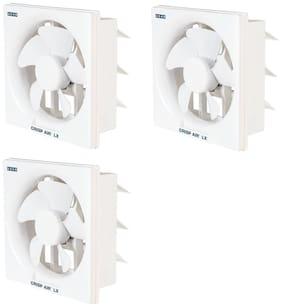 Usha Crisp air LX 200 mm Standard Exhaust Fan ( White ,Pack of 3 )