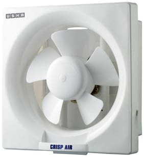 Usha Crisp Air (200 mm) 5 Blade Exhaust Fan (White)