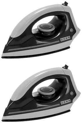 Usha EI 3302 1100-Watt Lightweight Dry Iron (Grey;Black) Pack Of 2