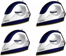 Usha EI 3302 Gold  1000 W Dry Iron  (Gold, White, Blue) pack of 4