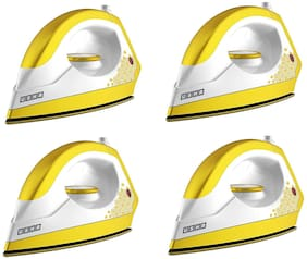 Usha EI 3302 Gold 1100-Watt Lightweight Dry Iron (Sulphur Yellow) Pack Of 4