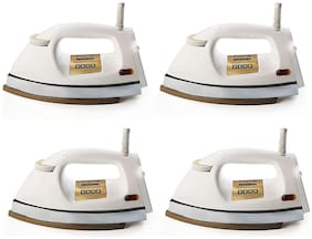 Usha EI 3710 Heavy Weight 1000-Watt Dry Iron, 1.75 Kg(White) pack of 4