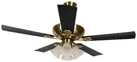 Usha Fontana Maple 5 Blades (1250 mm) Ceiling Fan (Antique Brass & Black)