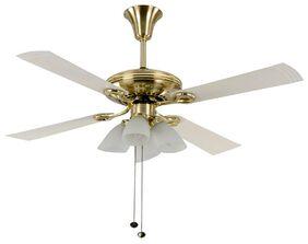 USHA Fontana Lotus 4 Blades (1230 mm) Ceiling Fan (White & Gold)