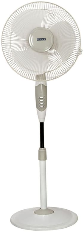 Usha Helix Hi Speed 3 Blades (400 mm) Pedestal Fan (Grey & White)