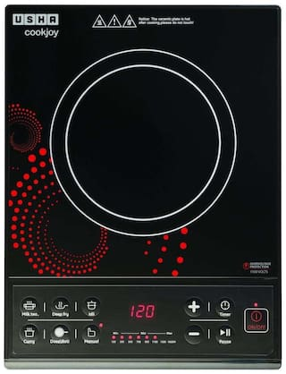 Usha IC 3616 1600 W Induction Cooktop ( Black & Red , Push Button Control)