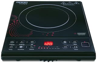 Usha COOKJOY IC 3616 1600 W Induction Cooktop ( Black , Red , Push Button Control)