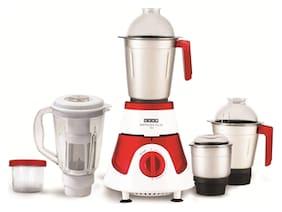 Usha Imprezza Plus MG 3775 Mixer Grinder with 5 Jars (Red & White)