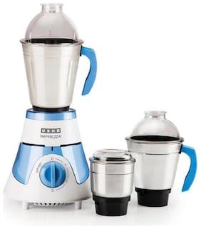 Usha IMPREZZA 600 600 W Mixer Grinder ( White & Blue , 3 Jars )