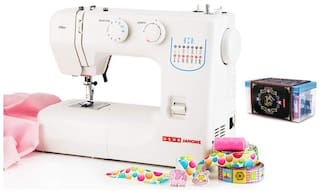 Usha Janome Allure Automatic Zig-Zag Electric Sewing Machine (White) with Free Sewing KIT Worth RS 500