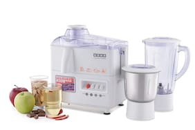 Usha JMG 3345 450 W Centrifugal Juicer ( White , 2 Jars )