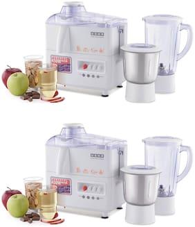 Usha JMG3345 450 W Mixer Grinder ( White ,Pack of 2 With 2 Jars )