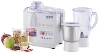 USHA JMG3345 450 W Juicer Mixer Grinder ( White , 2 Jars )
